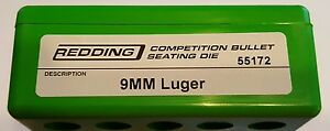 55172 REDDING COMPETITION SEATING DIE - 9MM LUGER - BRAND NEW - FREE SHIP