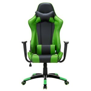 Home Office Adjustable Height Executive Racing Highback Pu Leather Swivel Chair