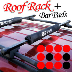 Jeep Rooftop Roof Rack Cross Bars Luggage Carrier With Keylock Top Round Pad