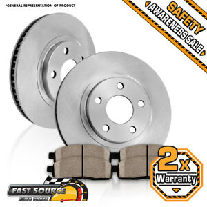 Front Brake Rotors And Ceramic Pads For 2004 2005 2006 2007 2008 Chevy Malibu