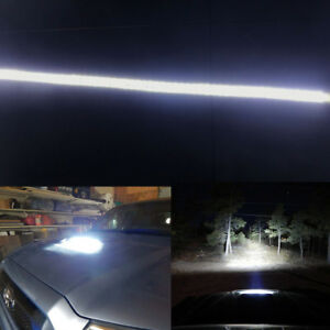 White Led Hood Bulge Light Strip For Toyota Tacoma W hood Scoop Bulge 2012 15