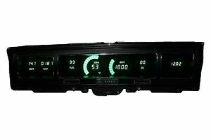 1968 Chevy Impala Caprice Digital Dash Panel Green Led Gauges Made In The Usa