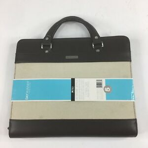 New Day Runner Pro Berlin Undated Refillable Planner 8 5 X 11 Brown tan