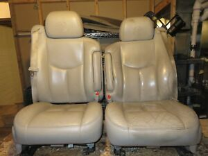 03 06 Denali Neutral Leather Buckets Interior Seats Power Air Bags Memory Heated