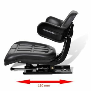Tractor Seat Backrest Excavator Chair Track Compact Mower Forklift Seat Black