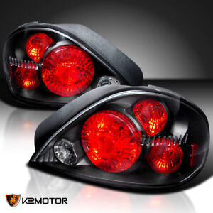 1999 2005 Pontiac Grand Am Black Tail Lights Pair Depo