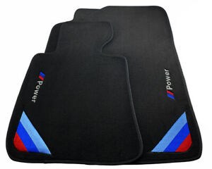 Bmw M5 Series F10 F10lci Black Floor Mats With m Power Emblem Lhd Clips New