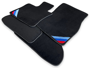 Bmw X6 M Series F86 Black Floor Mats With m Power Emblem Side Clips Lhd