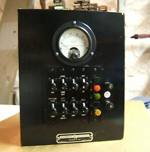Vintage Automatic Electric Test Cabinet Telephone Weston Meter Lineman