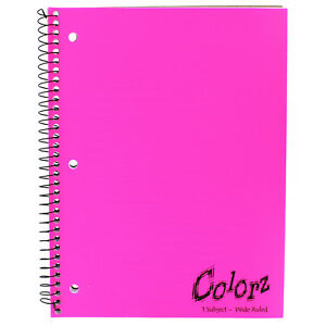 Norcom 77384 12 10 5 X 8 1 Subject Notebook Assorted Colors