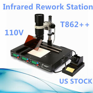 T862 Bga Ir Infrared Irda Welder Heating Rework Desoldering Station Machine Us