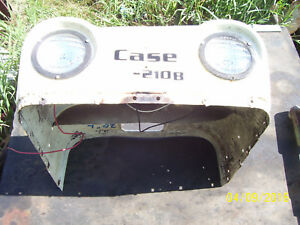 Vintage Ji Case 210 B Tractor Front Hood Lights Both Work 1958