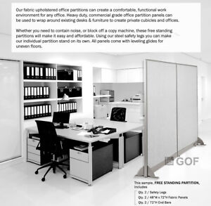 Gof 48 h 60 h 72 h Freestanding Office Partition Room Divider Cubicle Panel