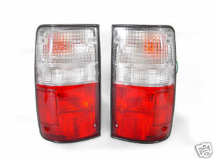 Depo Red Clear Tail Lights Lamps For 1989 1995 Toyota Pickup Truck 2wd 4wd