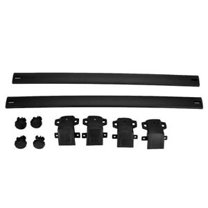 Alloy Black Roof Rack Cross Bars Luggage Cargo Carrier Fits Jeep Compass 17 18