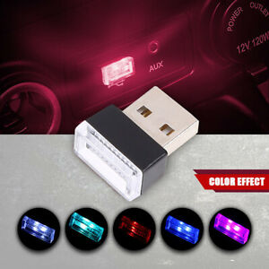 Mini Usb Red Led Light Car Interior Light Neon Atmosphere Ambient Lamp 1pcs