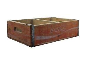 Vintage Coca Cola Enjoy Coca Cola Wood Crate B2 82