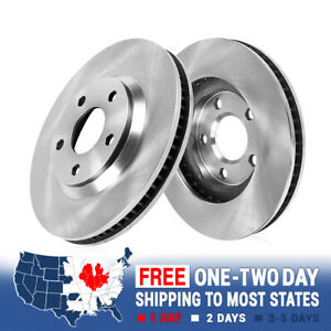 2 Front Brake Disc Rotors For 2008 2009 2010 2011 2012 2013 Cadillac Cts
