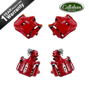 Front Rear Red Brake Calipers For 2006 2010 Honda Civic Sedan Coupe Ex
