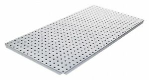 Alligatorboard 16 X 32 Metal Pegboard With 90 Lb Load Rating Gray