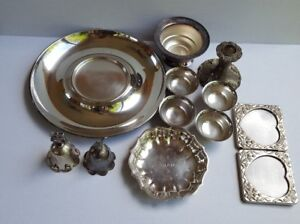 Lot Of 11 Sterling Silver Plated Scrap
