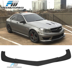 Fits 12 14 Benz W204 C Class C63 Amg Gh Style Front Bumper Lip Abs Black