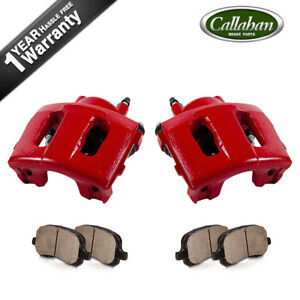 For Jeep Grand Cherokee Wrangler Front Powder Coated Brake Calipers Ceramic Pads