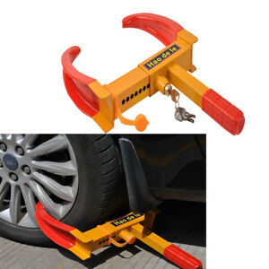 Wheel Lock Clamp Boot Tire Claw Trailer Auto Car Truck Anti Theft Towing Us Ship
