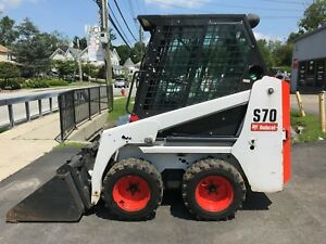Bobcat S70 Skid Steer Loader 554 Hours Erops Heat 23 Hp Kubota Diesel 463
