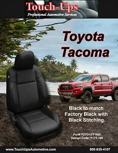 2016 2020 Toyota Tacoma Double Cab Katzkin Black Leather Seat Covers Replacement