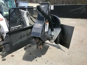 Bobcat Sgx60 Stump Grinder Attachment For Skid Steer Loader 27 Grinding Head