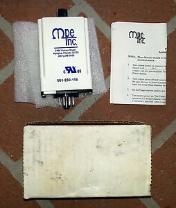 Mpe 001 230 118 3 Phase Motor Protection Monitor 240 Vac Power Line Spdt New