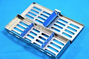 5 German Autoclave Sterilization Cassette Box Tray For 5 Instrument Surgical