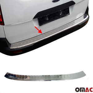 Fits Ford Transit Connect 2014 2020 Chrome Rear Bumper Trunk Sill Cover S steel