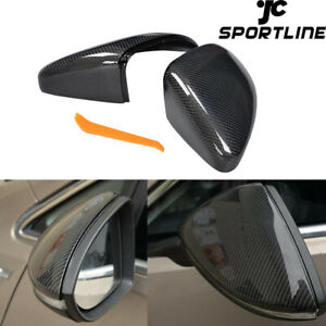Real Carbon Mirror Cover Caps Fit For Vw Golf Vii 7 5 Gti Mk7 14 18 Replacement