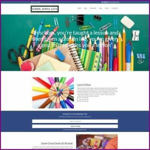 School Supplies Shop Home Based Make Money Website Business For Sale