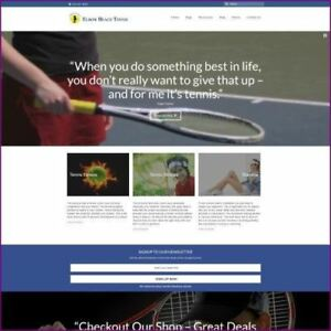 Tennis Shop Home Based Make Money Website Business For Sale