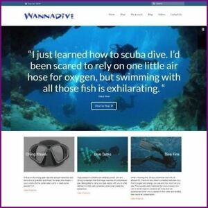 Scuba Diving Shop Mobile Friendly Responsive Website Business For Sale