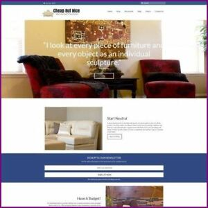 Home Furniture Shop Online Business Website For Sale Hosting Domain