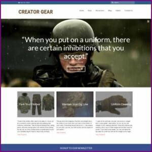 Military Clothing Shop Home Based Make Money Website Business For Sale