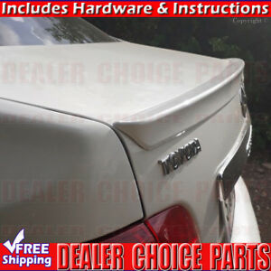 For 2009 2010 Toyota Corolla Jdm Lip Factory Style Spoiler Wing Unpainted