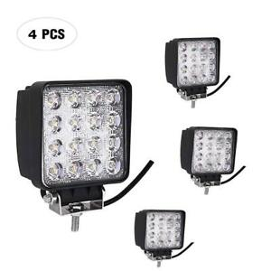 48w 4inch Led Work Light Spot Beam Tractor Truck Trailer Driving Lamps 2 Pair