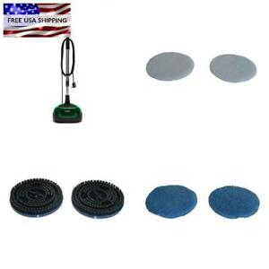Floor Machine Cleaner Scrubber Polisher Buffer Pads Attachments Brush Cleaning