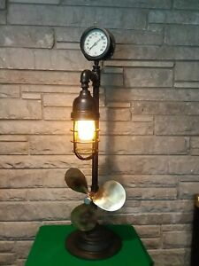 Steam Punk Industrial Antique Boat Propeller Lamp