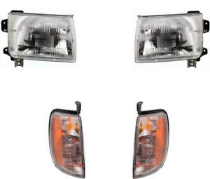 New Headlights And Signal Lights For 1998 1999 2000 Nissan Frontier 00 01 Xterra