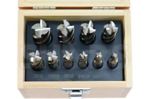 Shars 10 Pcs 3 16 3 4 Hss Four 4 Flute Hss Single End Mill Set New