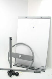 White Board Dry Erase Magnetic Bulletin Easel Wheel Height Adjustable Flip Chart