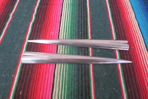 1958 Chevrolet Impala Convertible Hardtop Quarter Spears Stainless Trim Molding