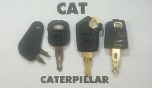4 Caterpillar Equipment Ignition Key Cat 5p8500 Fast Free Shipping
