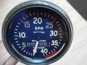Vtg Rare Ac Spark Plug Company Tachometer Rpm Gauge Military Rat Hot Slow Rod